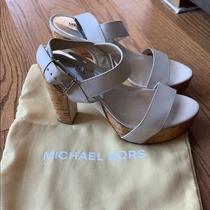 MICHAEL Michael Kors white leather sandals